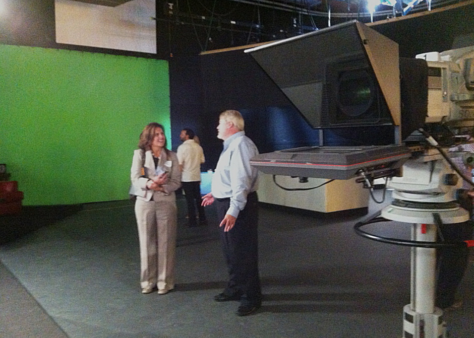 At CRM with Tom Kirkhart, while visiting the studios and the set of Glen Beck.